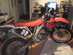 crf250x rebuild In dining room